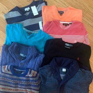 Men's Sweaters-Name Brand Lot (L), this is a STEAL